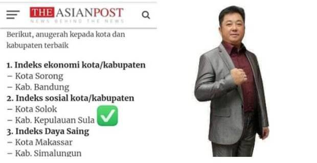 Photo of Kepulauan Sula Maluku Utara Kabupaten Terbaik Versi Asian Post